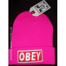 Шапка Obey розовая