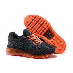 Nike Air Max 2013 черный с оранжевым