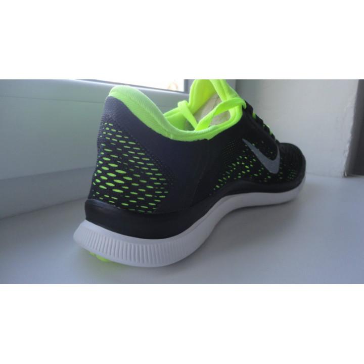 Летние мужские кроссовки Nike free run 3.0v5, черные/лимон