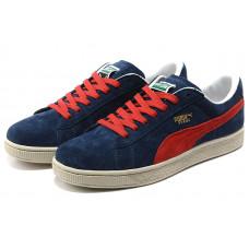 Puma Suede Skateboard Classic темно синие с красным