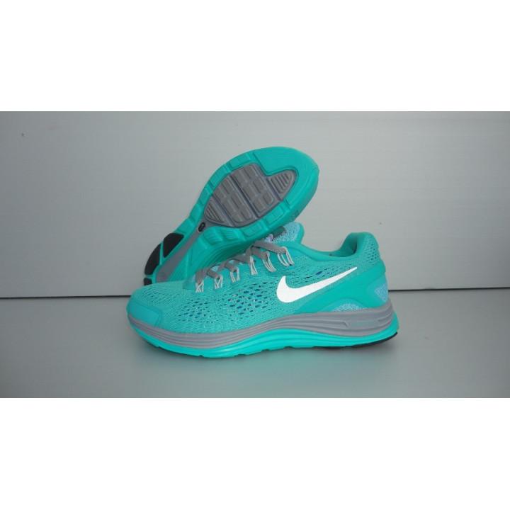 Кроссовки женские Nike LUNARGLIDE +4 бирюза/зеленые