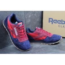 Reebok CL Leather синий с красным