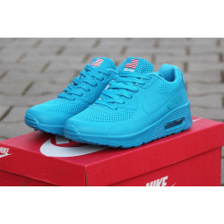 Nike AIR MAX 90 Hyperfuse PRM голубые сетка