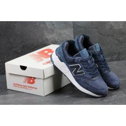 Кроссовки New Balance 999 синие с белым замша
