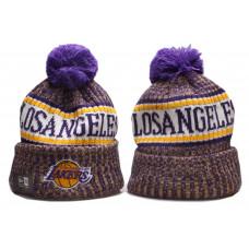 Шапка Lakers жовтий логотип