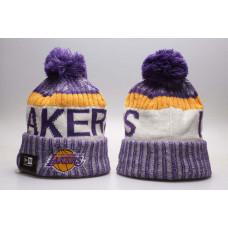 Шапка Lakers сіра з балабоном