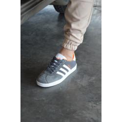 Adidas Gazelle серые с оранжевым В наличии