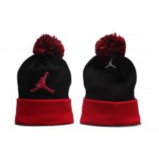 Шапка Air Jordan чорна з червоним лого