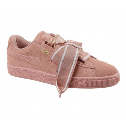 Puma Suede Heart Satin Cameo Brown Pink розовые