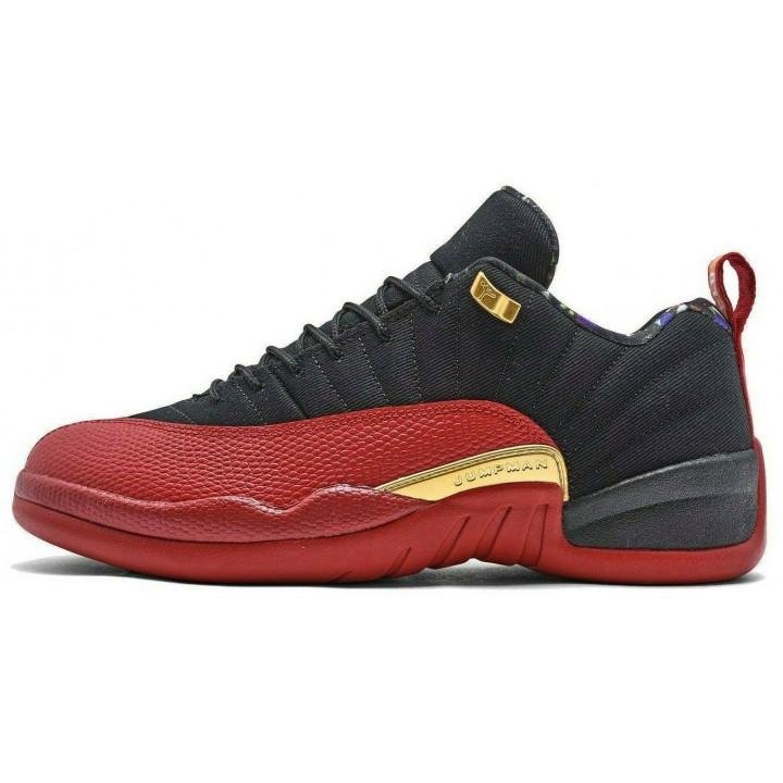 Nike Air Jordan 12 Retro Low кроссовки черный с красным
