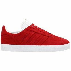 Adidas Gazelle Stitch And Turn Lace Up Casual - Red