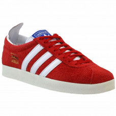 Adidas Gazelle Vintage Lace Up Casual - Red