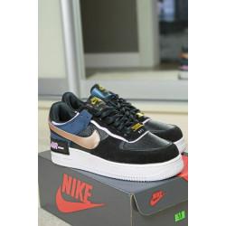 Nike Air Force 1 Shadow Black Gold