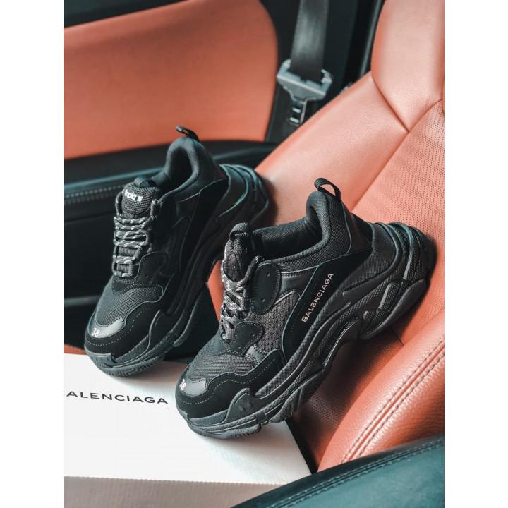 Модные кроссовки Balenciaga Triple S Black