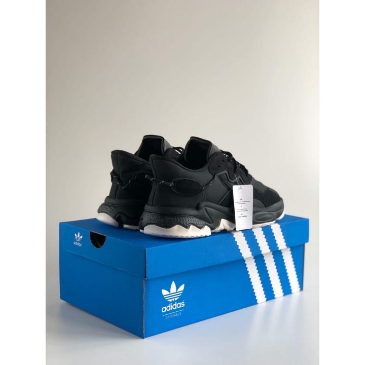 Кроссовки Adidas Ozweego, чорні з білим