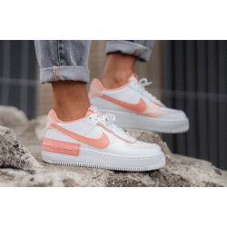 Nike Air Force 1 Shadow WASHED CORAL WHITE PINK QUARTZ