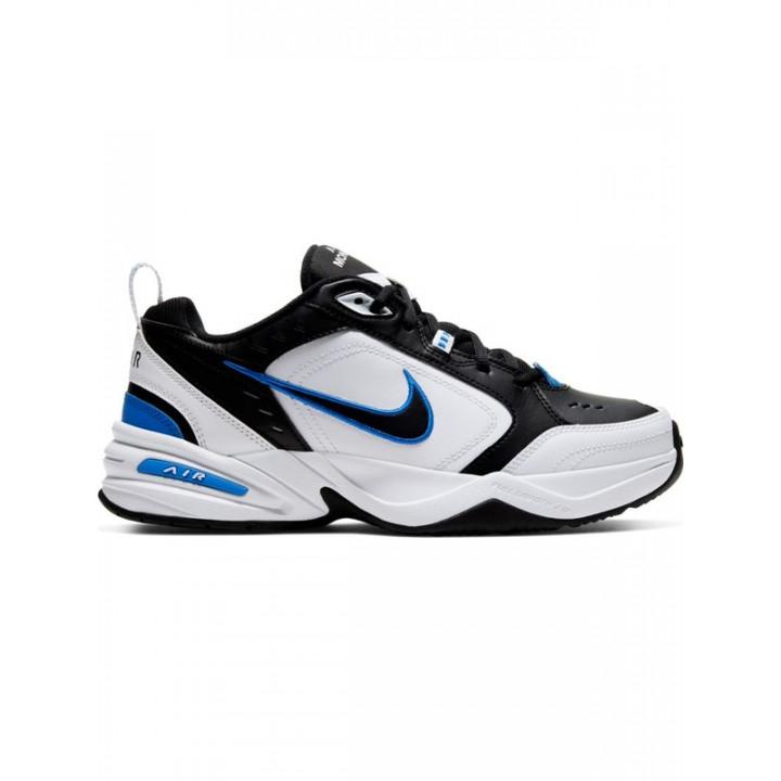 Кросівки Nike Air Monarch IV чорні з білим і синім