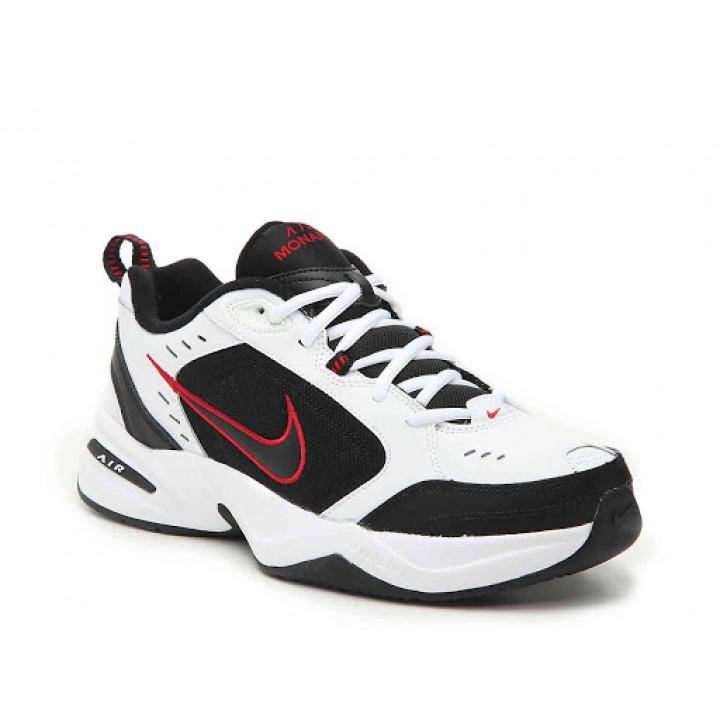 Кросівки Nike Air Monarch IV чорні з білим і червоним