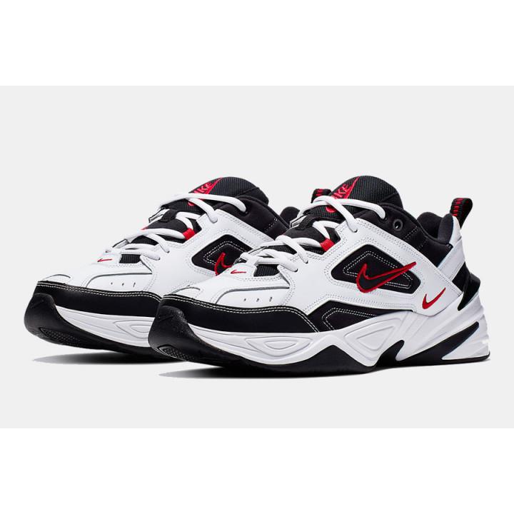 Кросівки Nike M2K Tekno чорні з білим і червоним