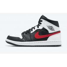 Air Jordan 1 retro Mid Black Chile Red/White
