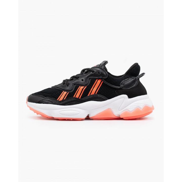 Кроссовки Adidas Ozweego, помаранчеві з чорним