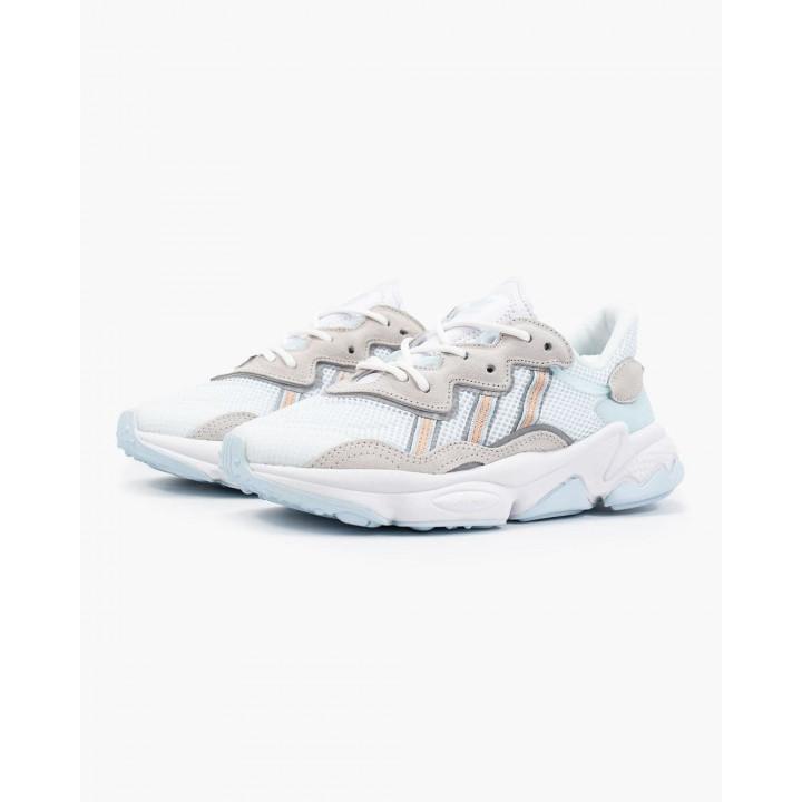 Кроссовки Adidas Ozweego, білі з сірим в наявності