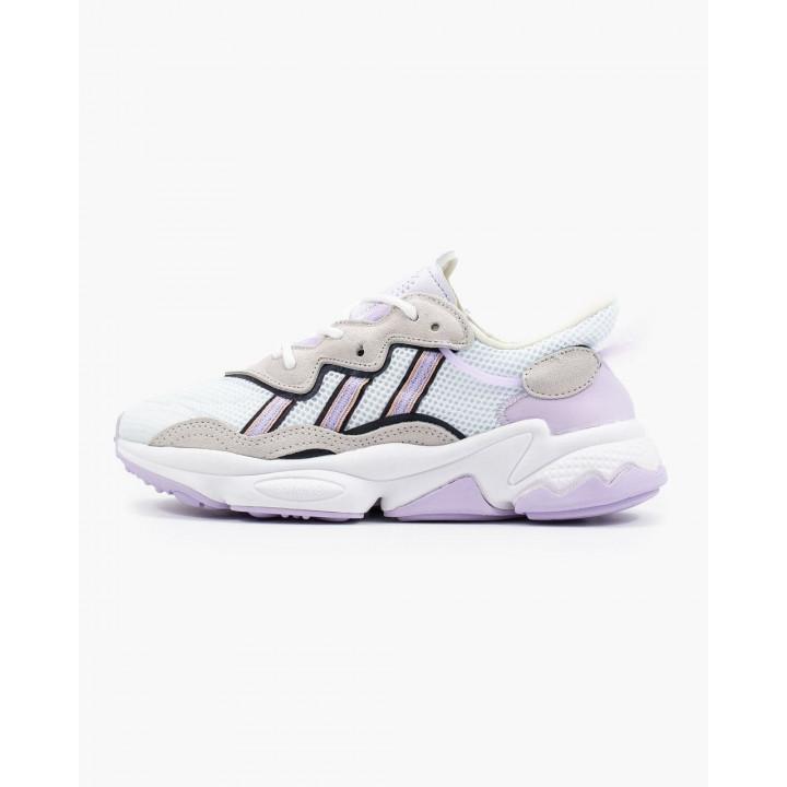 Кроссовки Adidas Ozweego, білі з бузковим в наявності