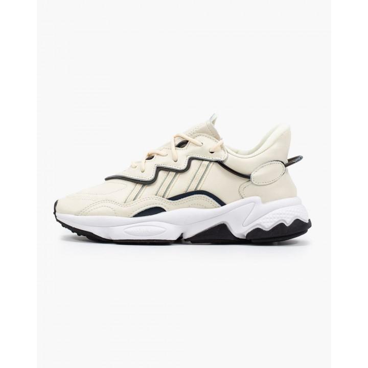 Кроссовки Adidas Ozweego, бежеві з чорним в наявності