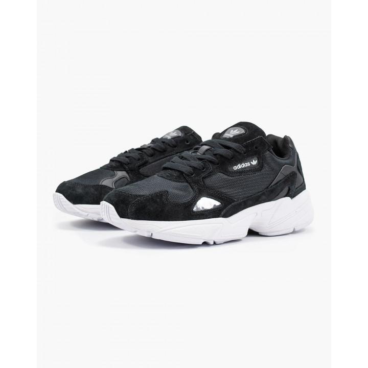 Кроссовки Adidas Falcon, білі з чорним в наявності