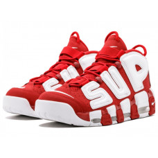 NIKE AIR MORE UPTEMPO SUPREME RED White