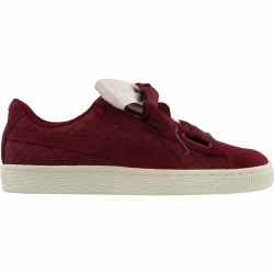 Puma Suede Heart Satin Burgundy