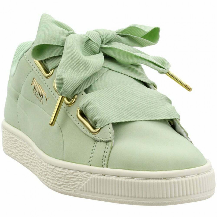 Puma Suede Heart Satin Green