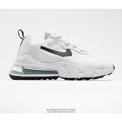 Nike React Air Max 270 White black logo