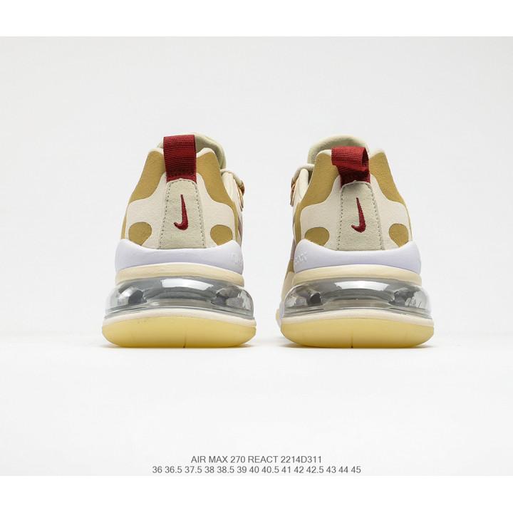 Кроссовки Nike React Air Max 270 білі з золотим