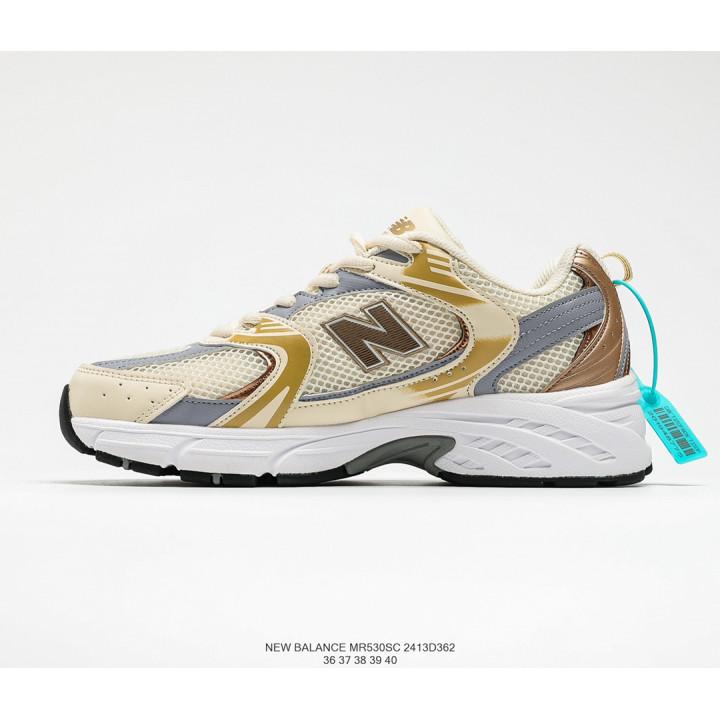 Кроссовки New Balance 530 білі з золотим