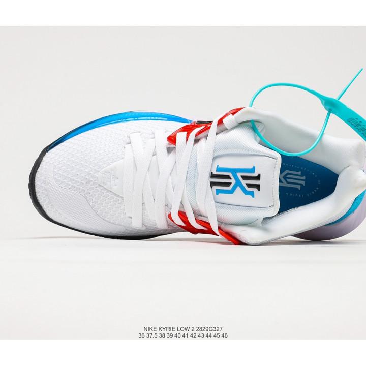 NIKE KYRIE LOW 2 білі з червоним та синім
