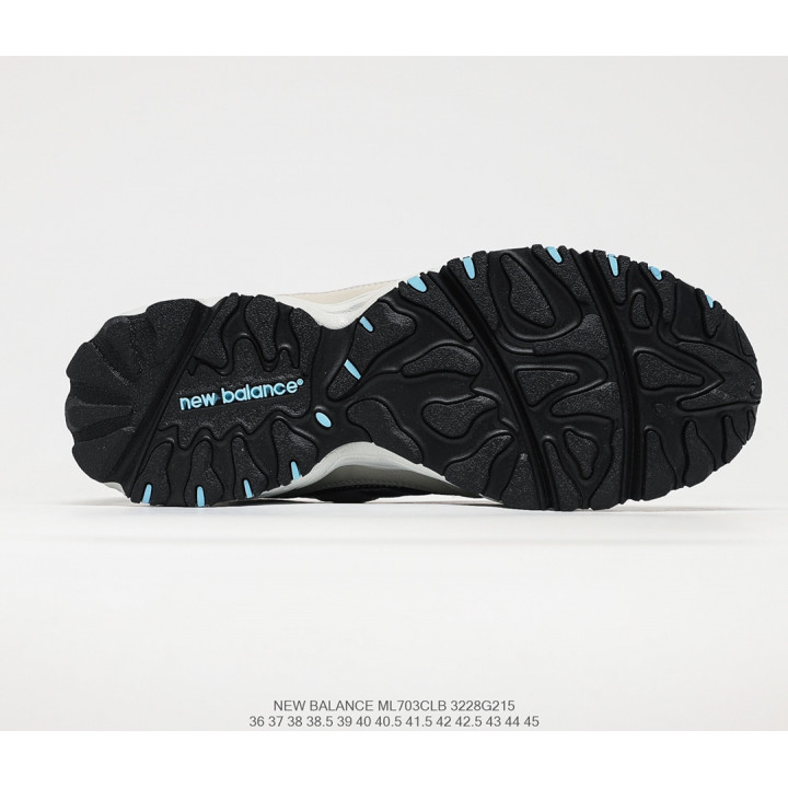 Кроссовки New Balance ML703 бежеві з синім