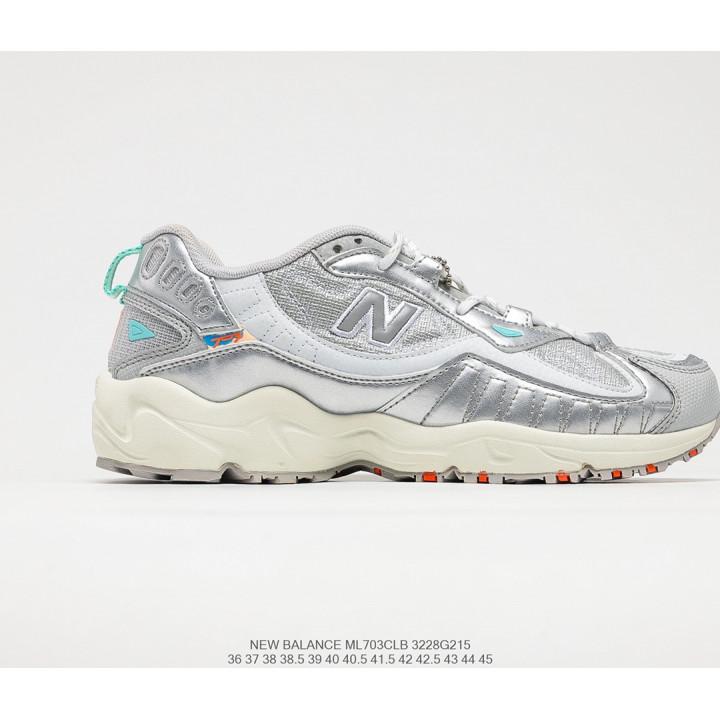 Кроссовки New Balance ML703 бежеві з сріблом
