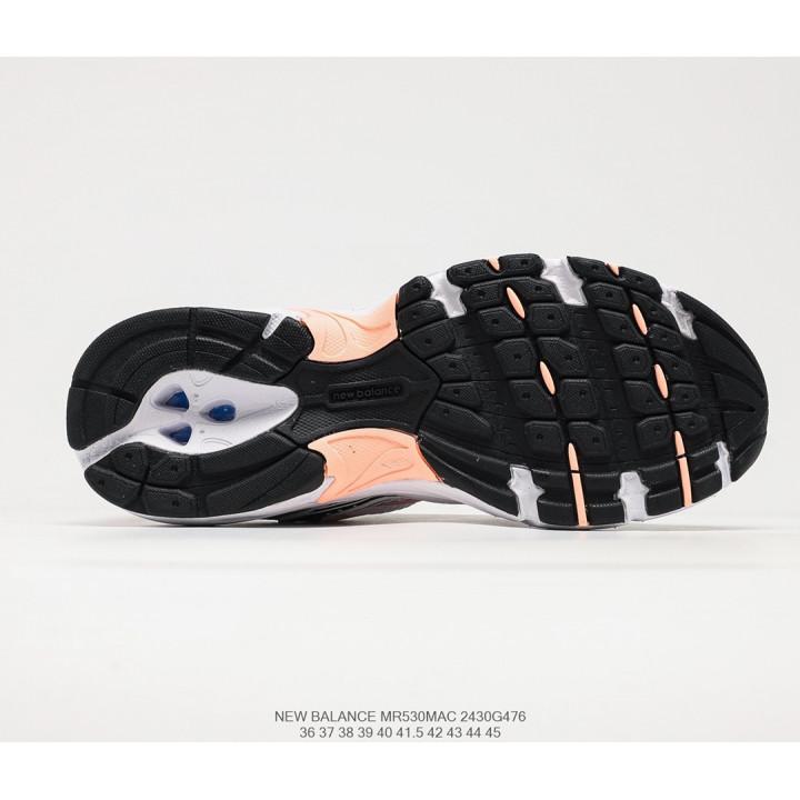 Кроссовки New Balance 530 білі з помаранчевим та срібним