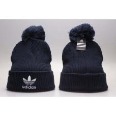 Шапка Adidas синяя с балабоном