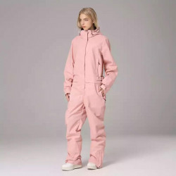 Новый Комбинезон SEARIPE женский для сноуборда WINDSTOP WATER PROOF розовый XL