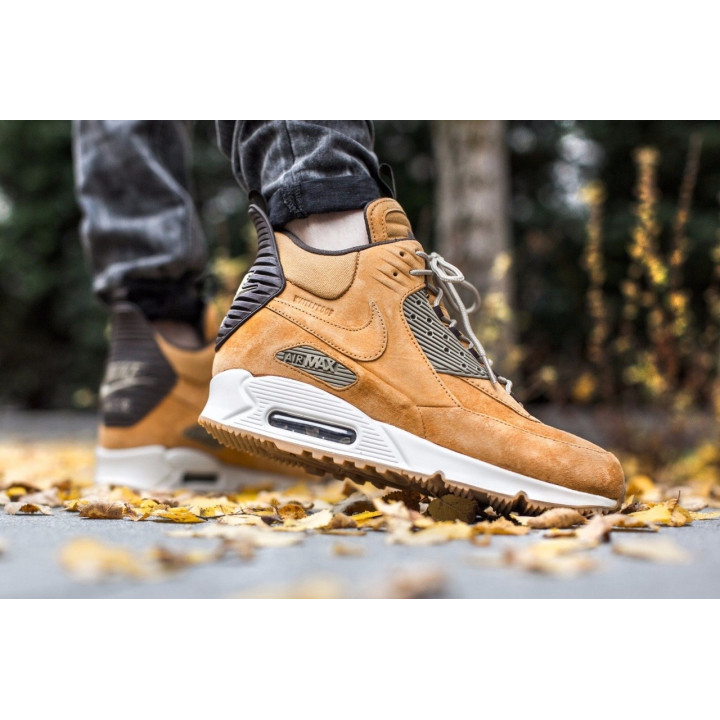 Кроссовки Nike Air Max 90 Sneakerboot Winter, рыжие
