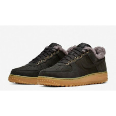 "Nike Air Force 1 PRM Winter Trainers ""Black Thunder Grey"""