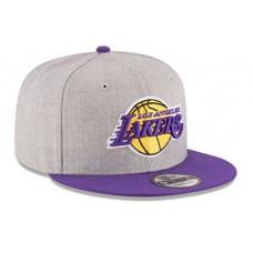 Кепка с прямым козырьком Lakers серая с фиолетовым