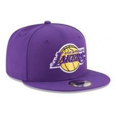 Кепка с прямым козырьком Lakers Purple