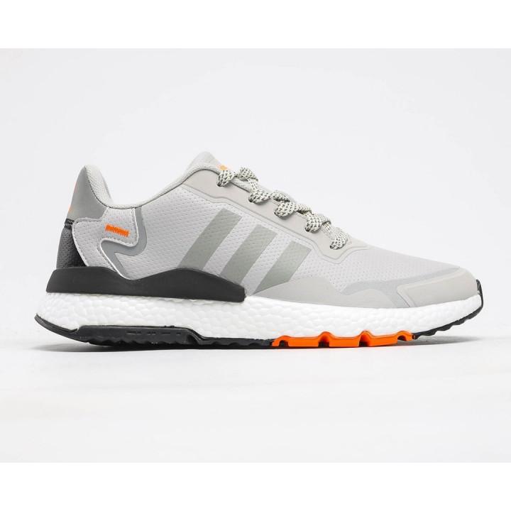 Кроссовки Adidas Nite Jogger весна/осінь під замовлення сірі з помаранчевим