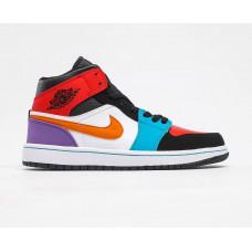Air Jordan 1 White/blu/violet/red/black new color 2020