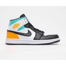 Air Jordan 1 White/black/blu/orange new color 2020