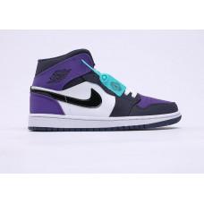 Air Jordan 1 White/black/violet