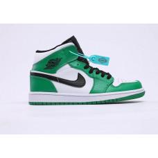 Air Jordan 1 White/black/Green